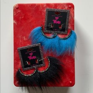 NWT Betsey Johnson Trolls Earrings